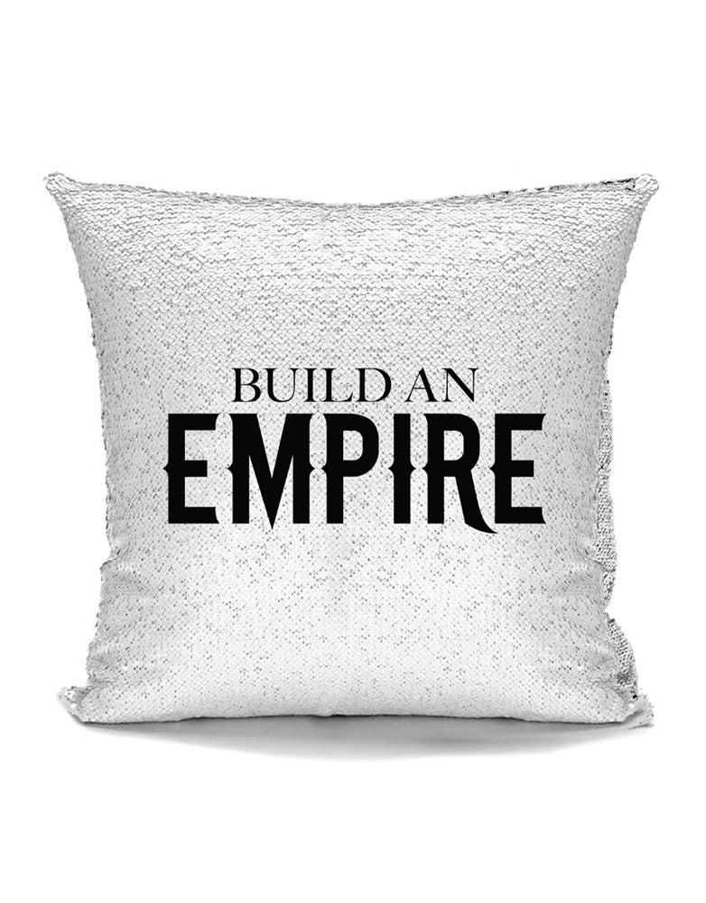 Build An Empire - Sequin Pillow Cushion - Cover for 16x16 Pillow
