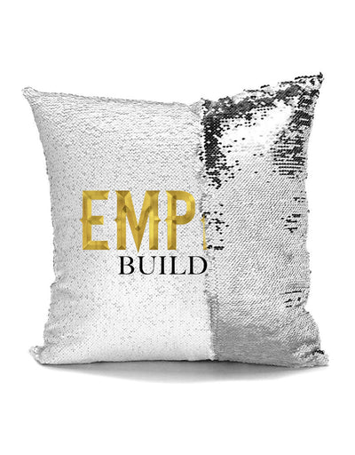 Empire Builder - Sequin Pillow Cushion - Cover for 16x16 Pillow