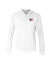 10X Obsessed - UNISEX SUEDED ZIP HOODIE - White