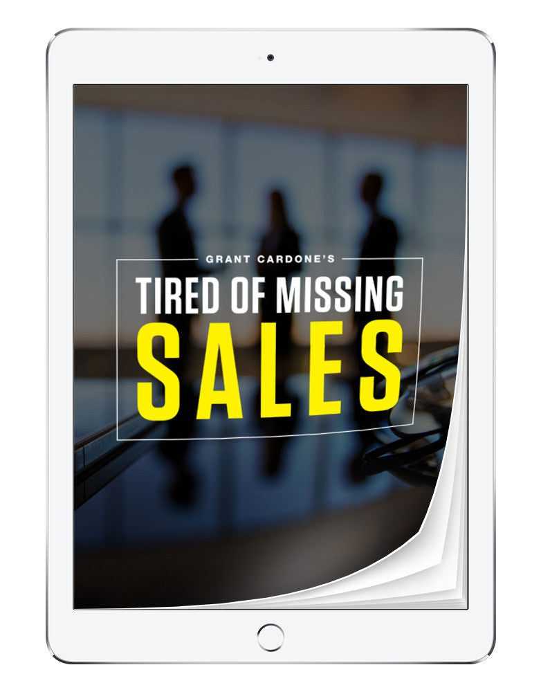 Tired of Missing Sales | eBook