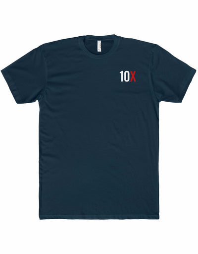 10X Obsessed - White/Red Imprint - Premium Fitted Short-Sleeve T-Shirt