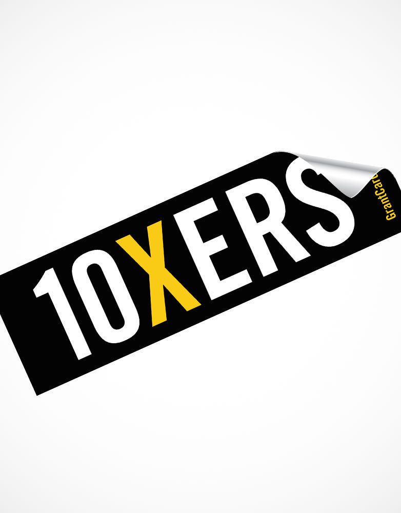 10XERS Motivational Sticker