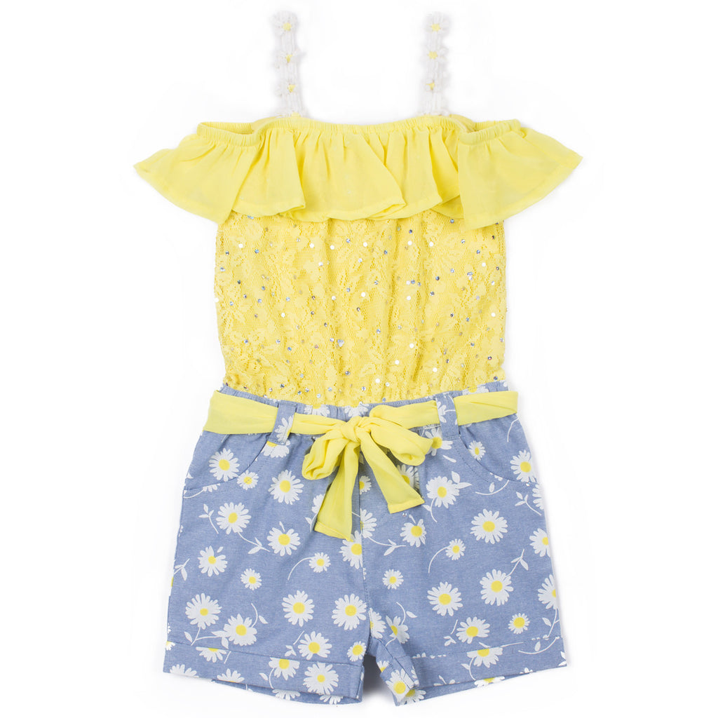 Girls Lace Daisy Romper