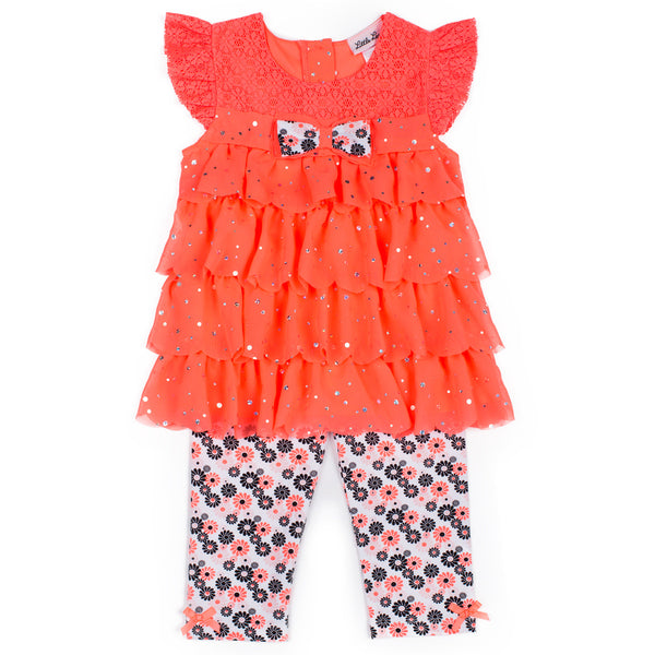 Girls Chiffon Top and Capri Set