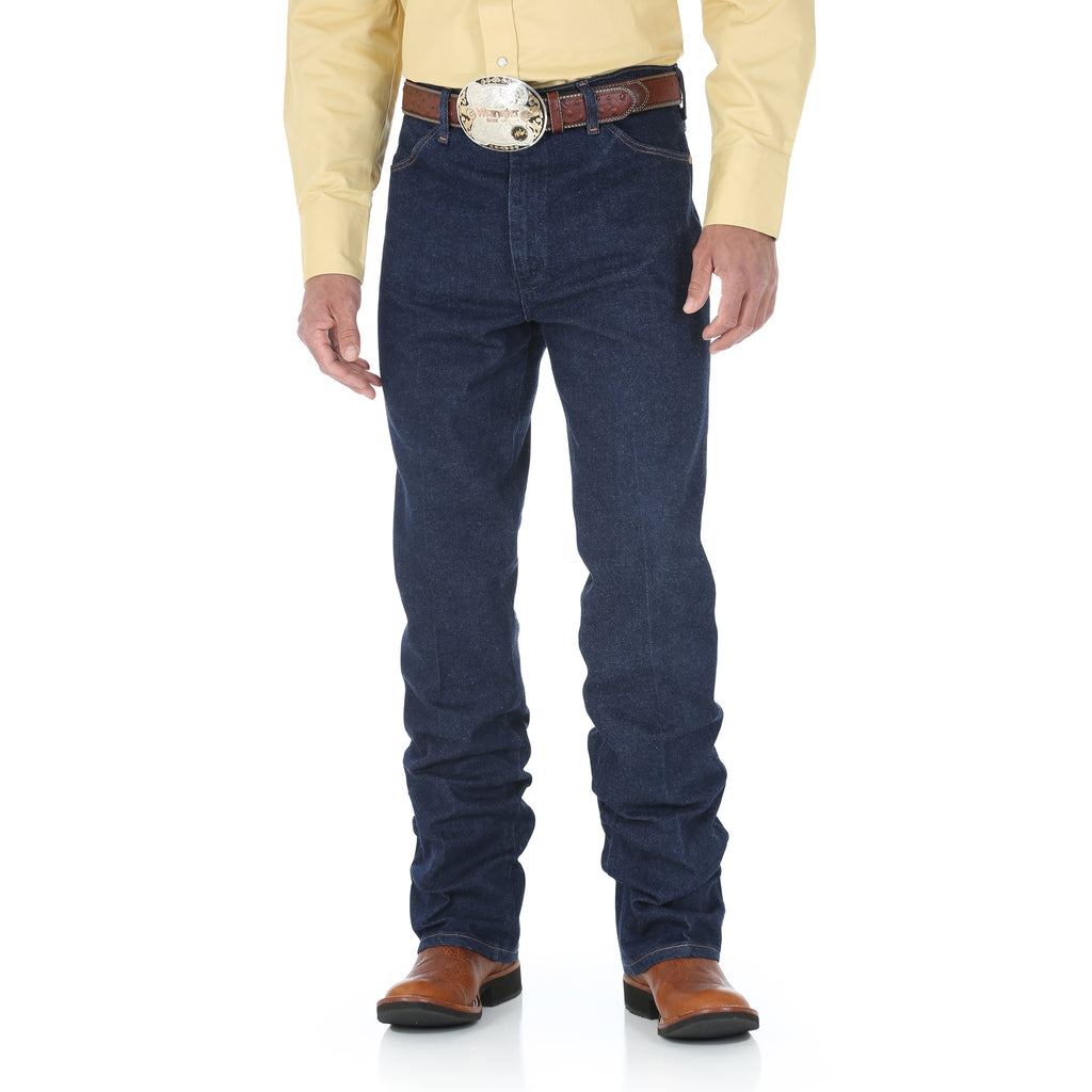Wrangler Men's Cowboy Cut Navy Slim Fit Stretch Jean