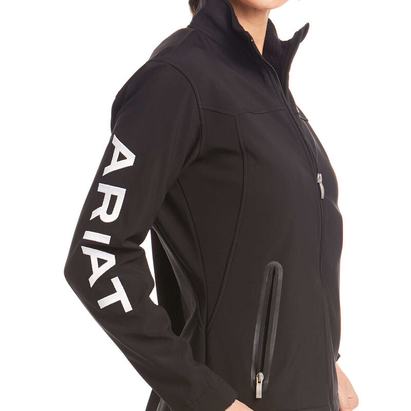 Ariat Ladies Black/White New Team Softshell Jacket