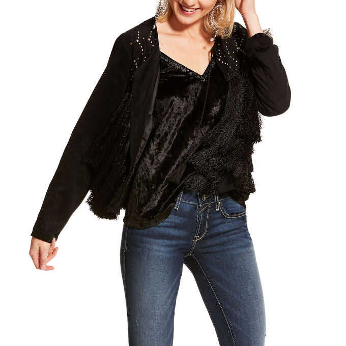 ARIAT BLACK FRINGING JACKET