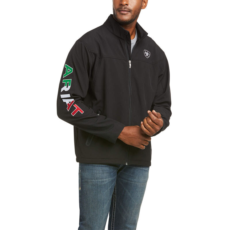 Ariat Men's New Team Softshell MEXICO Water Resistant Jacket