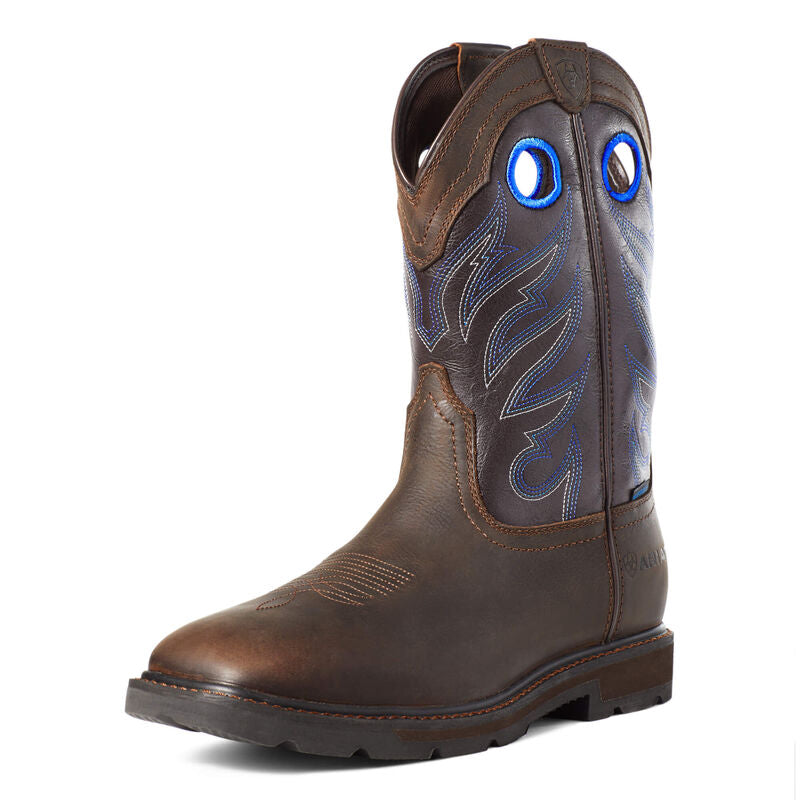 Ariat Groundwork Waterproof Dark Brown Work Boot