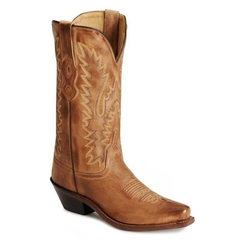 OLD WEST LADIES TAN LEATHER BOOT