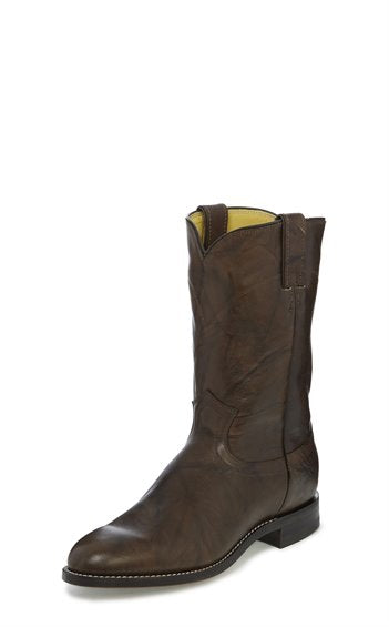 JUSTIN MEN'S DARK BROWN MARBLED DEERLITE ROPER