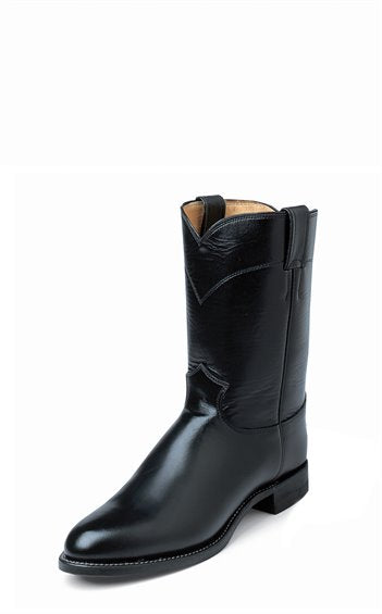 JUSTIN MEN'S BLACK MELO-VEAL ROPER