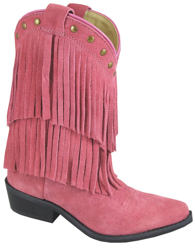 SMOKY MOUNTAIN GIRLS' PINK FRINGE BOOT
