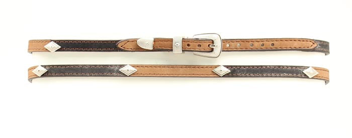 DIAMOND CONCHO LEATHER HATBAND
