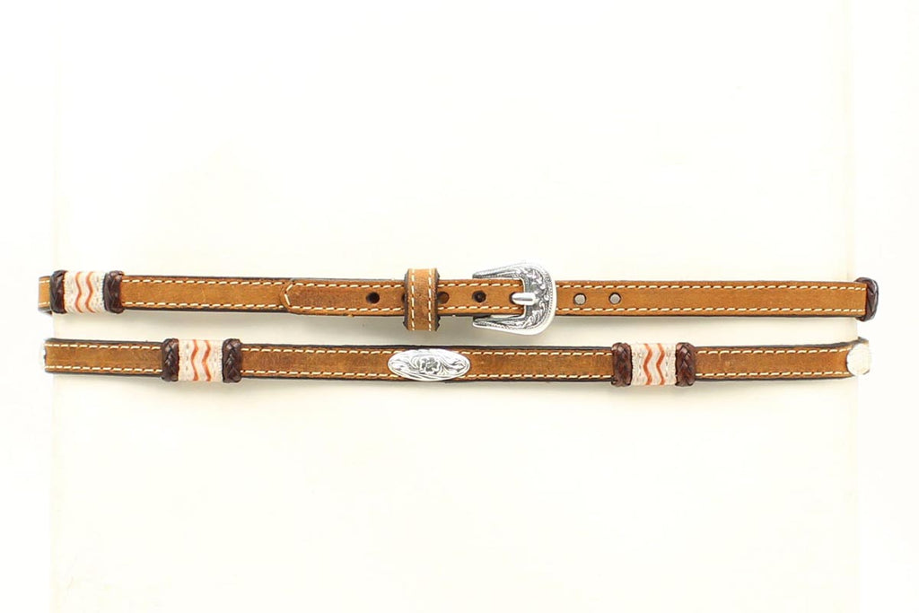 LEATHER & RAWHIDE CONCHO HATBAND