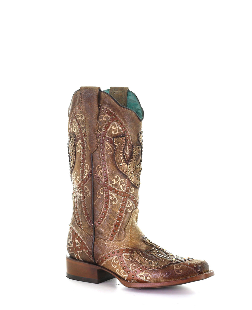 Corral Brown Horseshoe Studded Boot