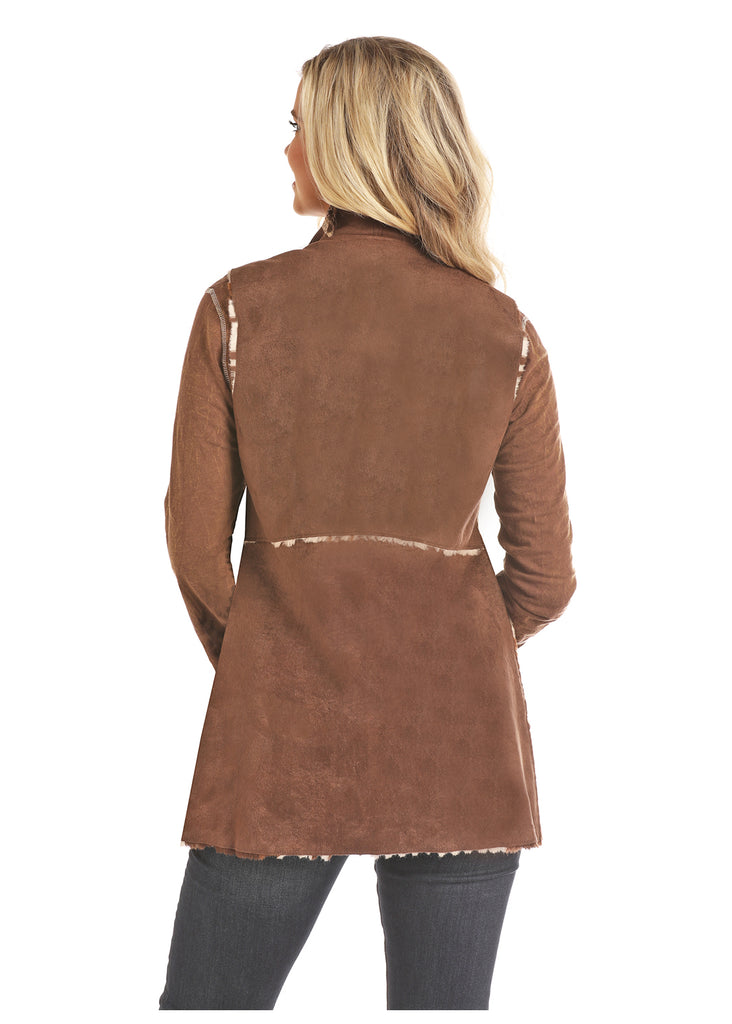 COWPRINT BROWN SUEDE JACKET