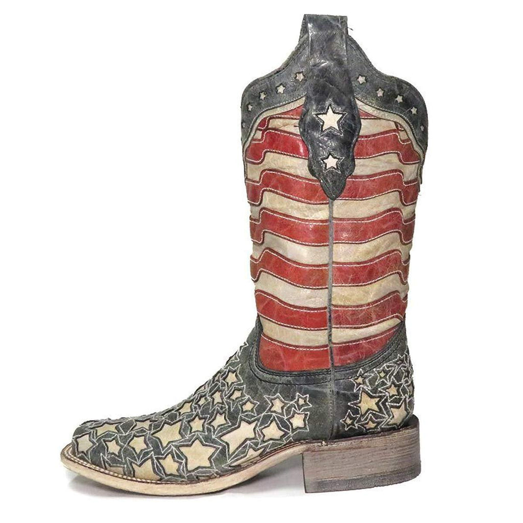 CORRAL LADIES AMERICAN FLAG BOOT