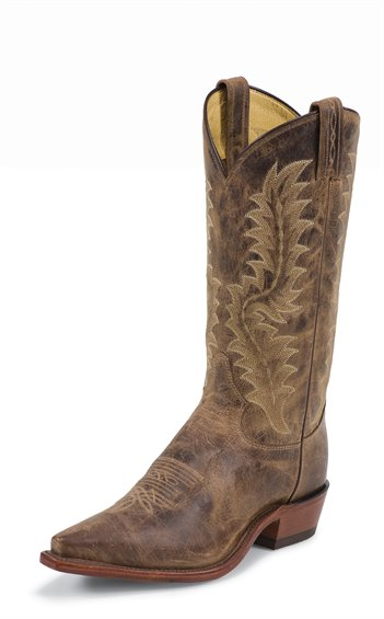 TONY LAMA TAN SAIGETS WORN GOAT COWBOY BOOT