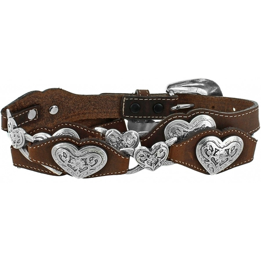 Tony Lama Bark Linked Hearts Belt
