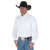 Wrangler Men's White Painted Desert Basic Western Shirt