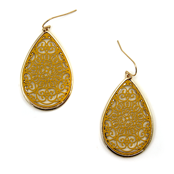 FANCY FILIGREE TEARDROPS
