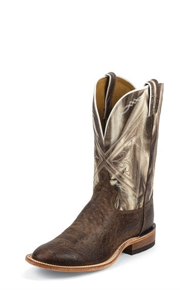 TONY LAMA CHOCOLATE REVERSE QUILL BOOT