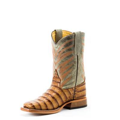 ANDERSON BEAN KIDS' BROWN CAIMAN PRINT BOOT