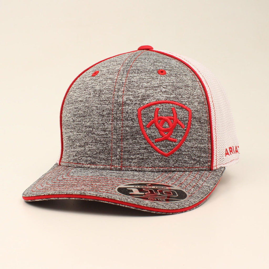 ARIAT HEATHER RED SNAP BACK CAP