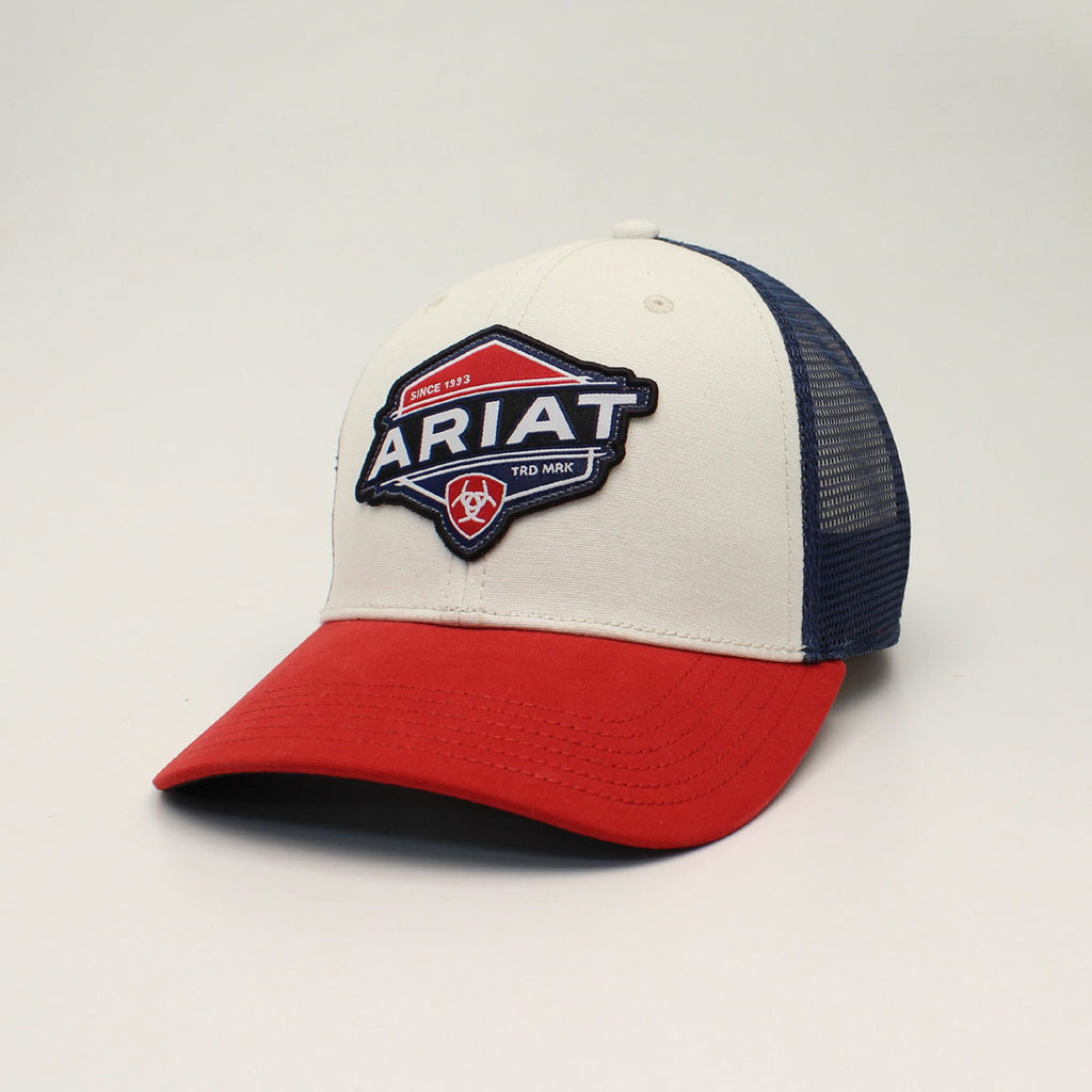 ARIAT RED, WHITE AND BLUE LOGO CAP