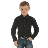 Wrangler Boy's Black Classic Long Sleeve Shirt