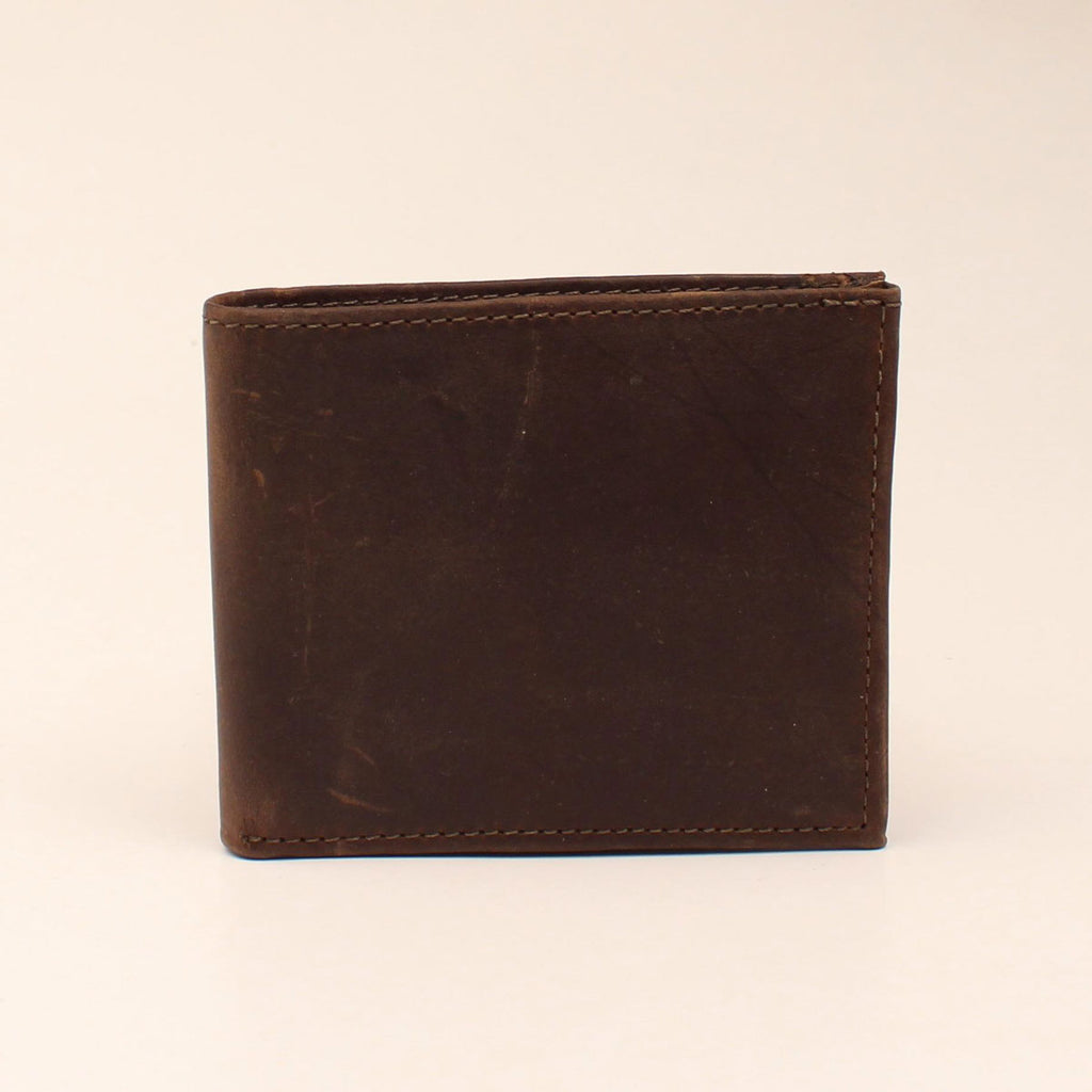 BROWN CRAZY CORRECT BIFOLD WALLET
