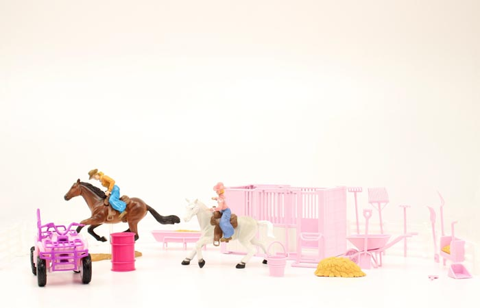 BIGTIME RODEO STALL AND ATV PINK PLAY SET