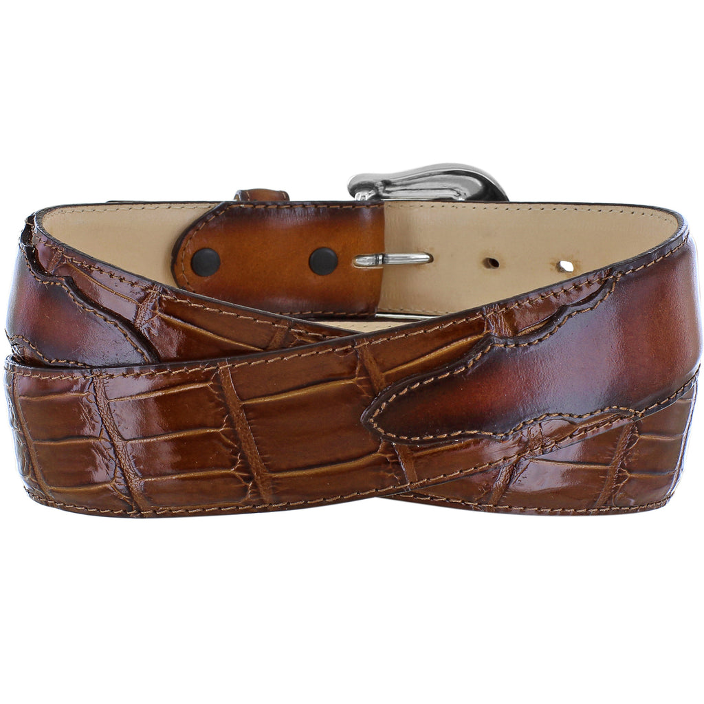 Tony Lama Men's Embossed Georgetown Leather Belt
