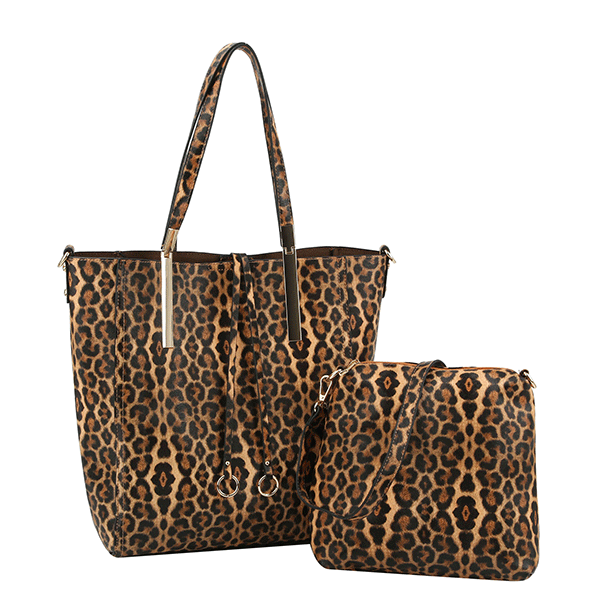 LEOPARD 2 IN 1 HANDBAG