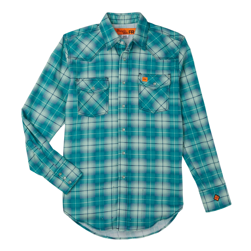 Wrangler FR Flame Resistant Long Sleeve Fashion Shirt