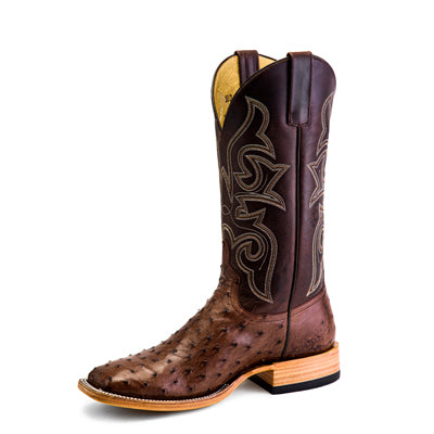 Horse Power Kango Tobacco Full Quill Ostrich Boot