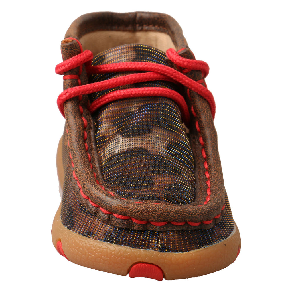 SHINNING LEOPARD & RED INFANT CHUKKA DRIVING MOC