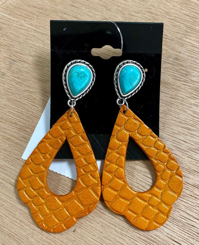 MUSTARD/ TURQUOISE EARRINGS