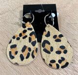 CHEETAH HOOP EARRINGS