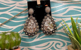 Rhinestone Dangle Teardrops