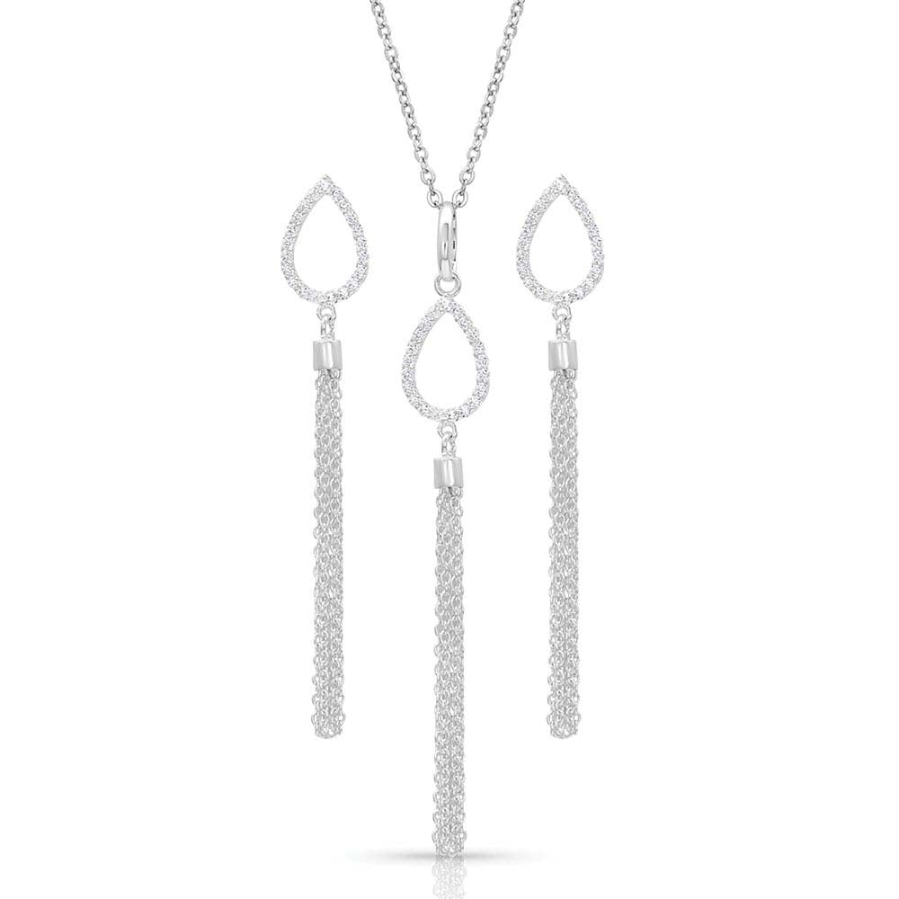 Teardrop Fringe Jewelry Set