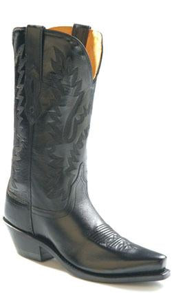 OLD WEST LADIES BLACK LEATHER BOOT