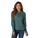Wrangler Ladies Green Western Fashion Top