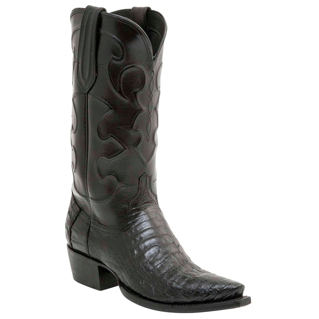 Lucchese Black Caiman Belly Cowboy Boot