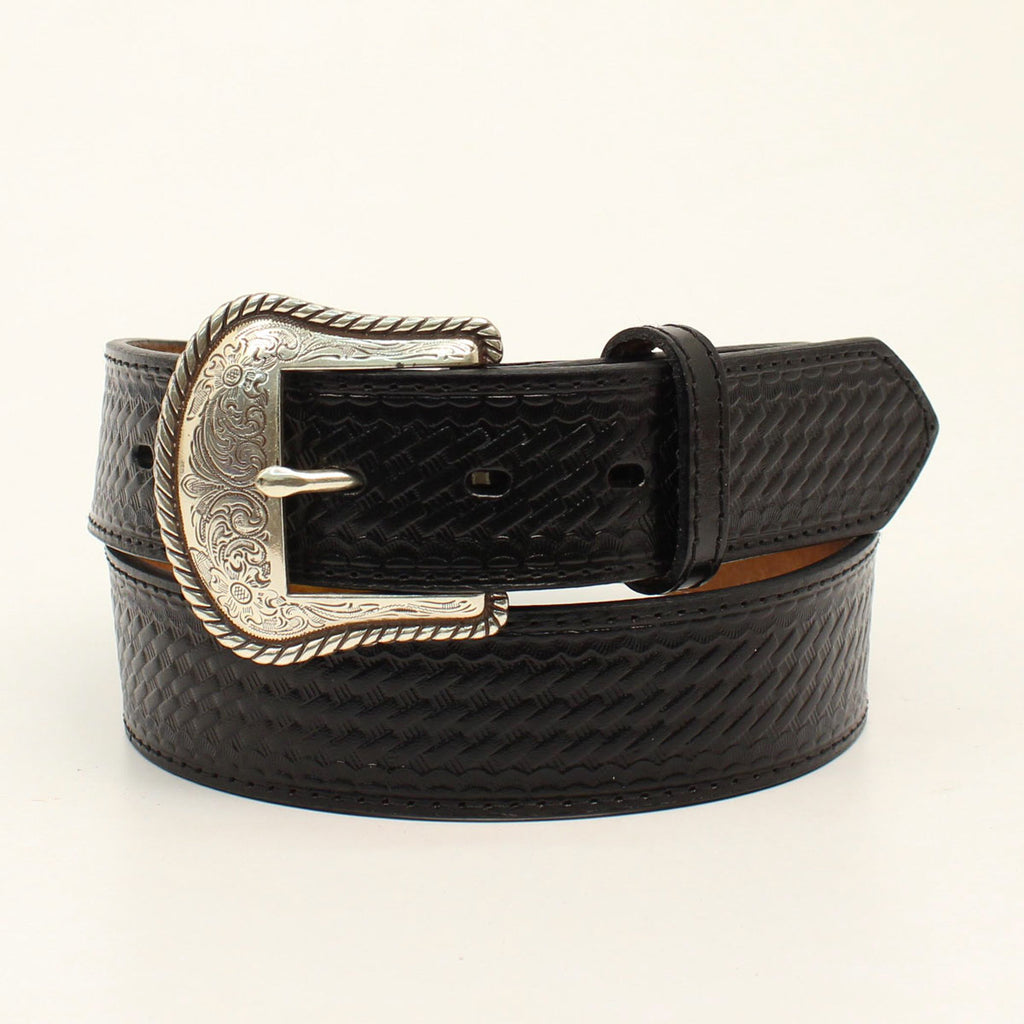NOCONA MEN'S BASIC BLACK LEATHER BELT