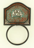 ROSE INLAY TOWEL RING