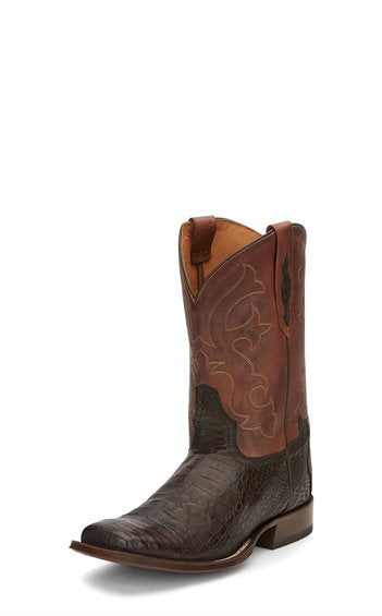 TONY LAMA MEN'S CAFE BURNISHED CAIMAN BELLY COWBOY BOOT