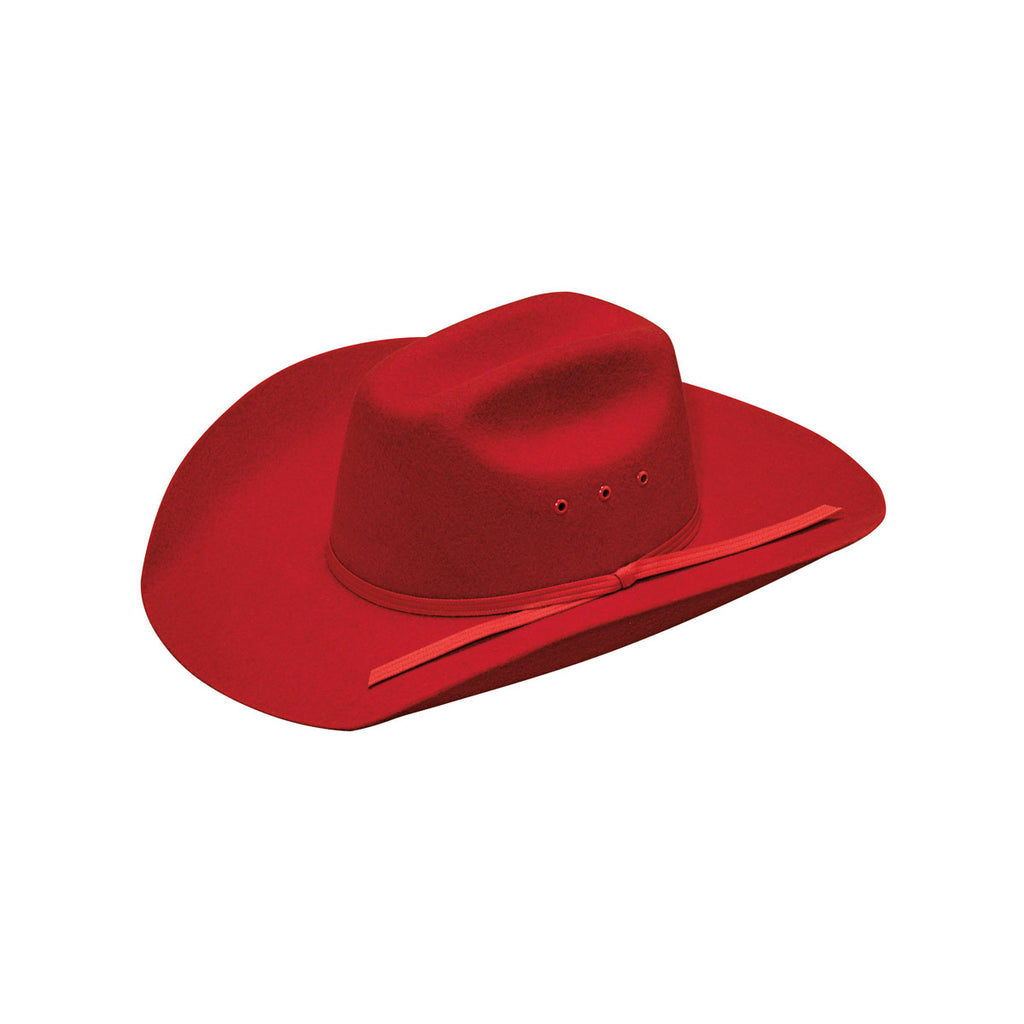 RED WOOL YOUTH WESTERN HAT