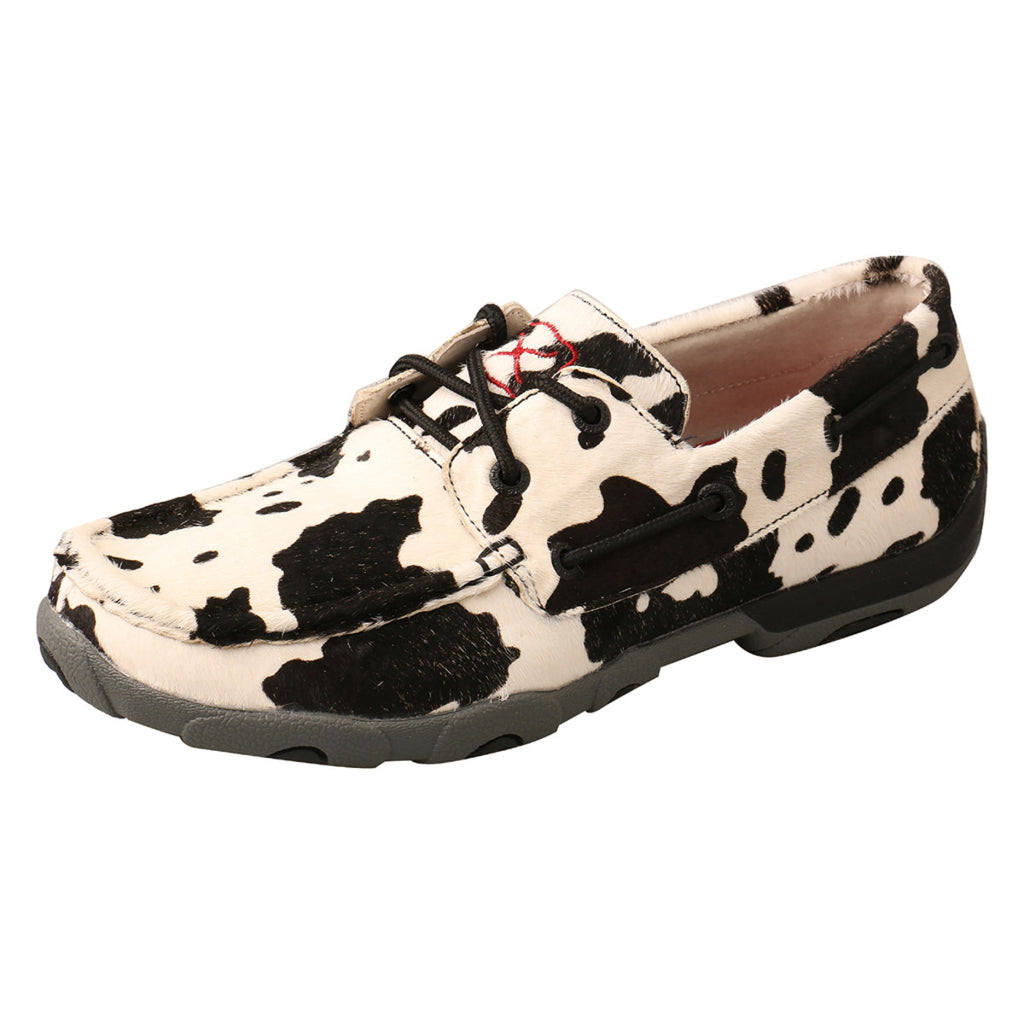 TWISTED X LADIES COWPRINT DRIVING MOC